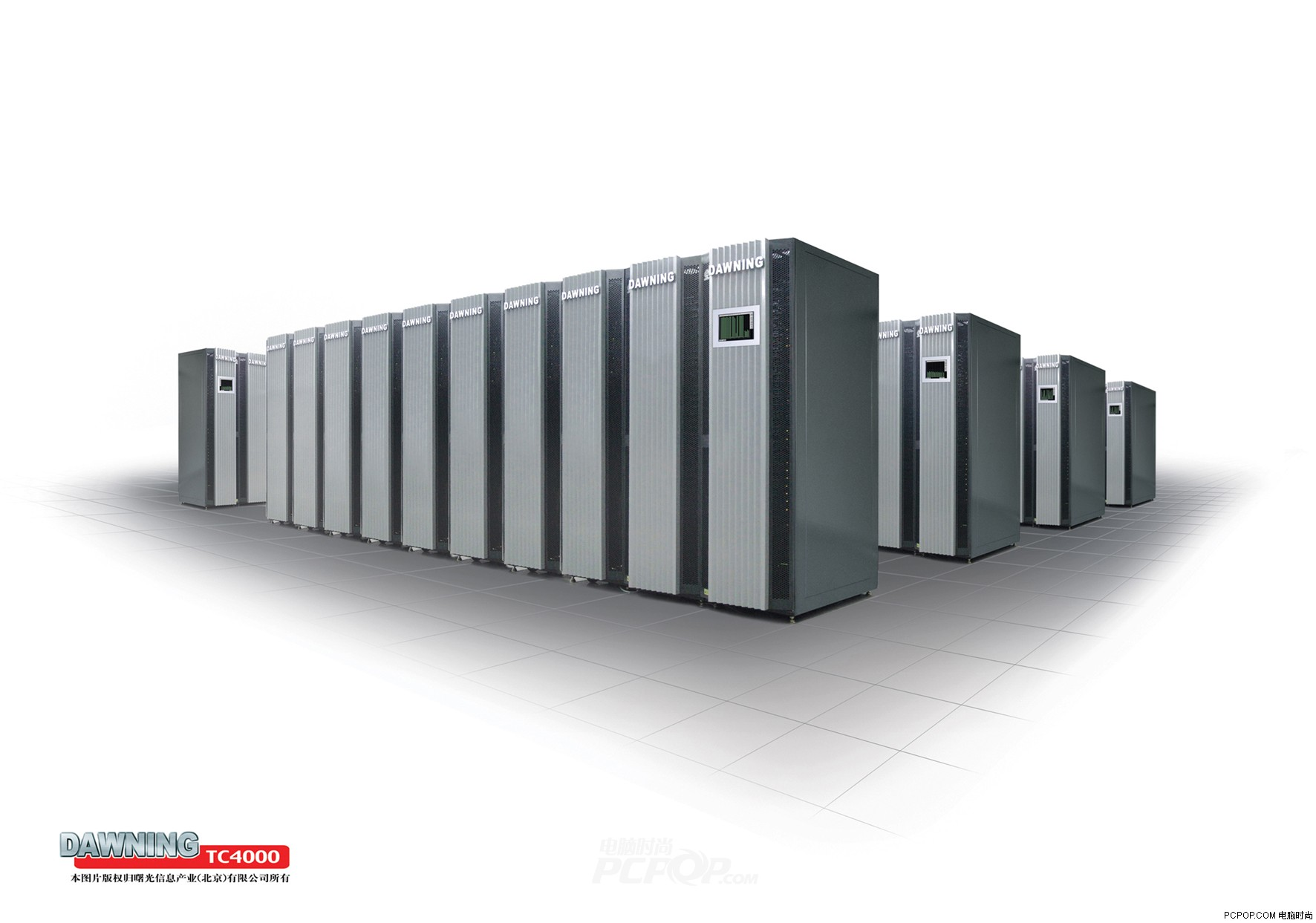 曙光: 4000a超级计算机亮相国家十五图片1