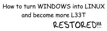有种你就试!12步让Windows变成Linux