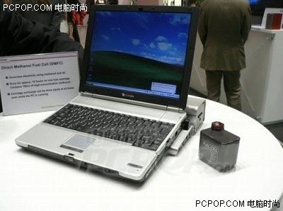 cebit05 东芝展示笔记本燃料电池实物