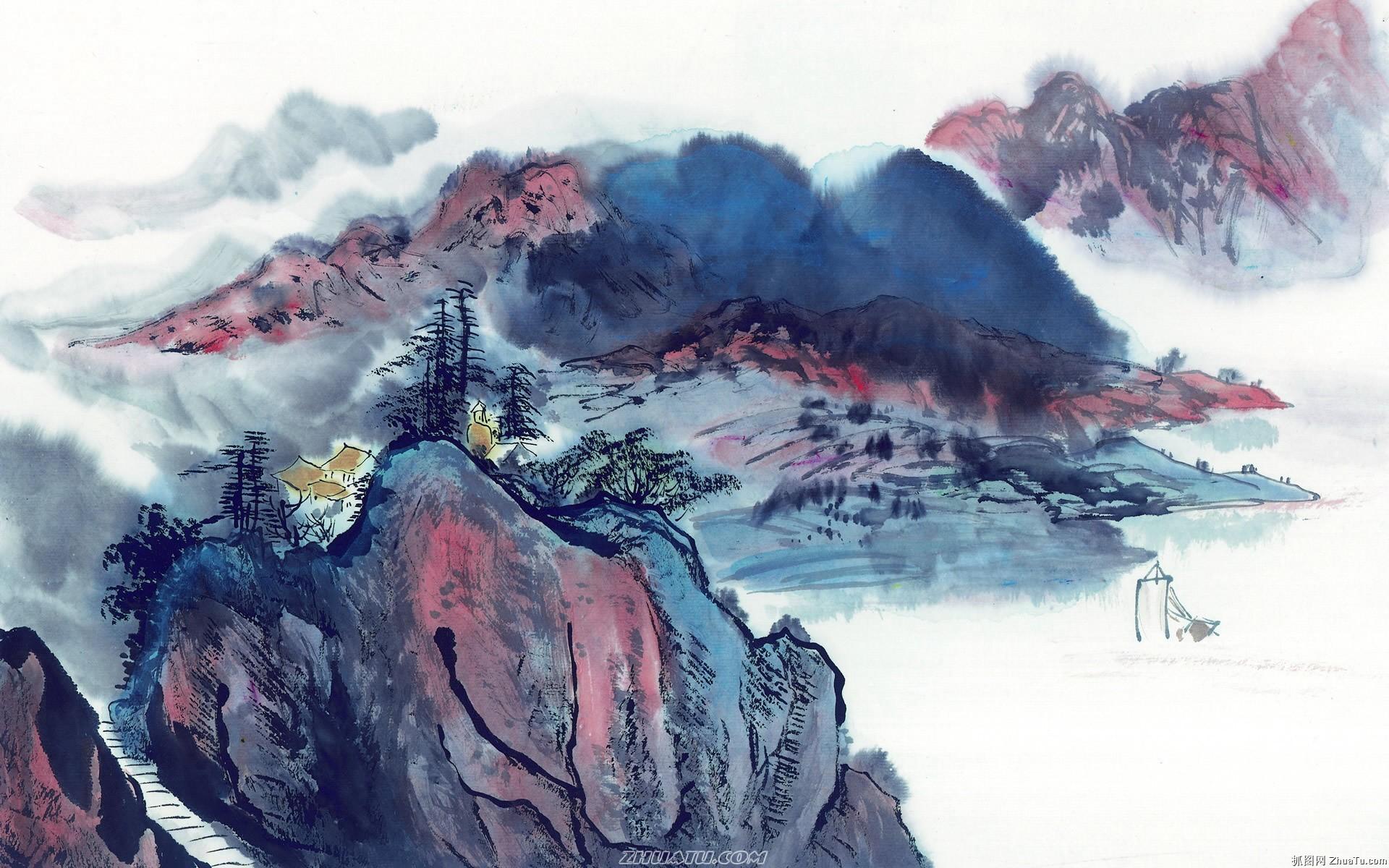 1920×1200:20张中国水墨画壁纸欣赏图片10