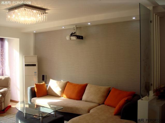 客厅家庭影院装修图; 客厅投影仪效果图