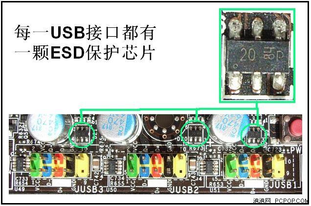 从微星主板的usb保护电路设计看品质图片5_pcpop电脑