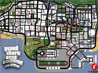 GTA 圣安地列斯 游戏小任务地图图片